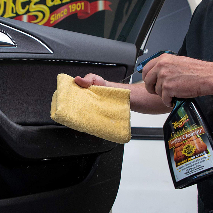 Meguiars Gold Class Leather Cleaner - Solutie Curatare Piele 3