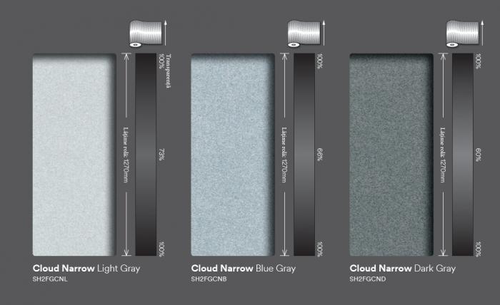 Cloud Narrow blue gray (ND)  SH2FGCNB 0