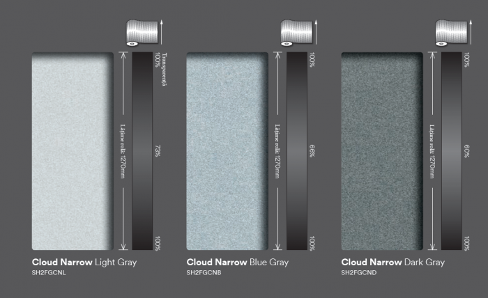 Cloud Narrow dark gray (ND)  SH2FGCND 0