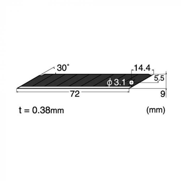 Lame de rezerva cu VARF 30° - 9MM NT Cutter 1
