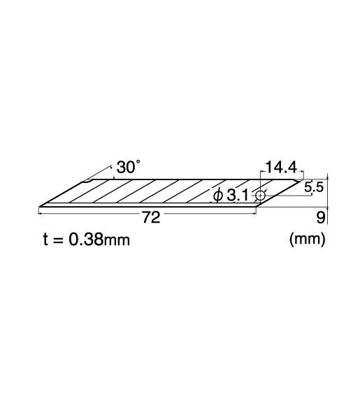 SET 5 LAME DE PRECIZIE PT CUTTER DE TIP A, VARF 30° - 9MM [1]