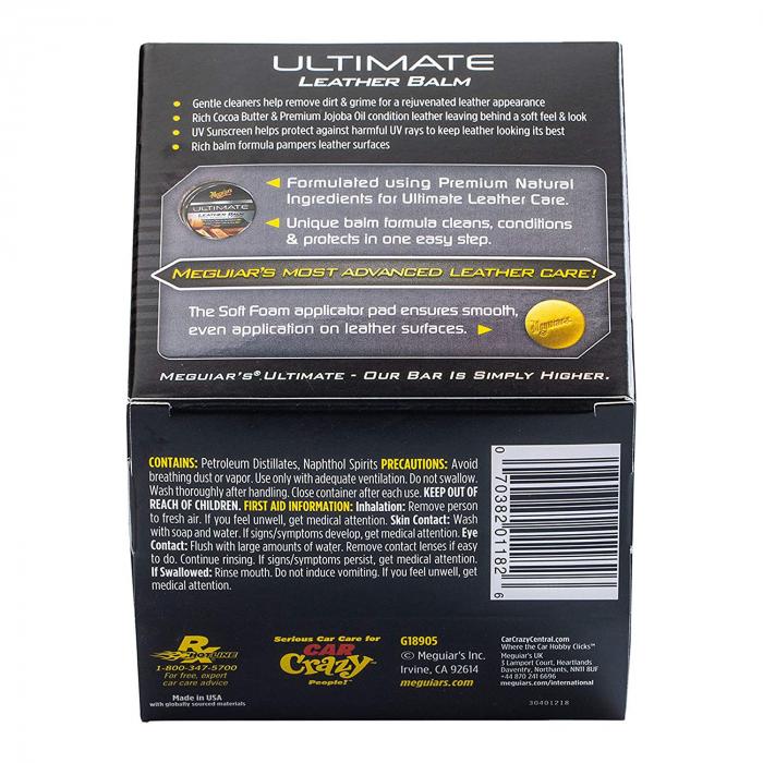 Meguiar's Ultimate Leather Balm 148 ML - Soluție Hidratare Piele 1