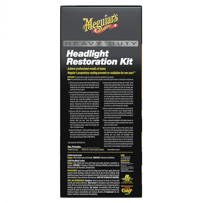 Meguiar's Heavy Duty Headlight Restoration Kit - Kit Polish Faruri [2]