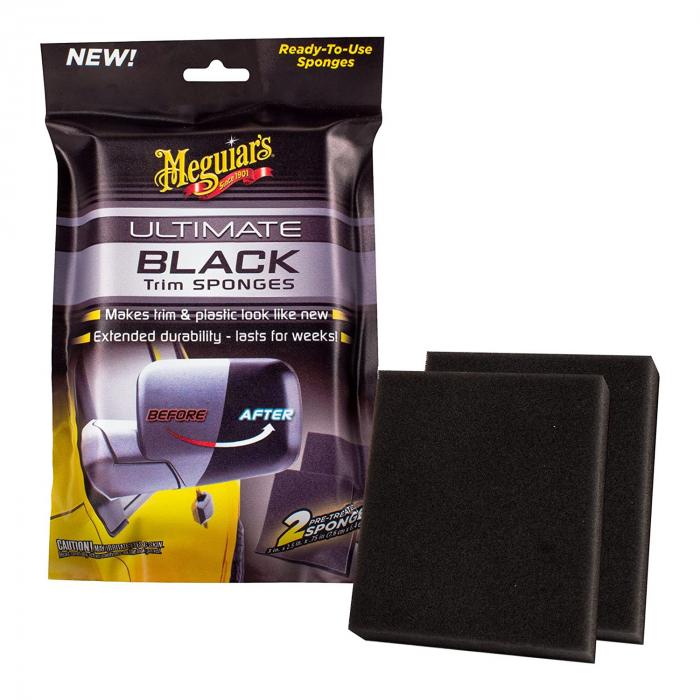 Meguiar's Ultimate Black Trim Sponges - Set 2 Bureti Dressing Plastice [0]