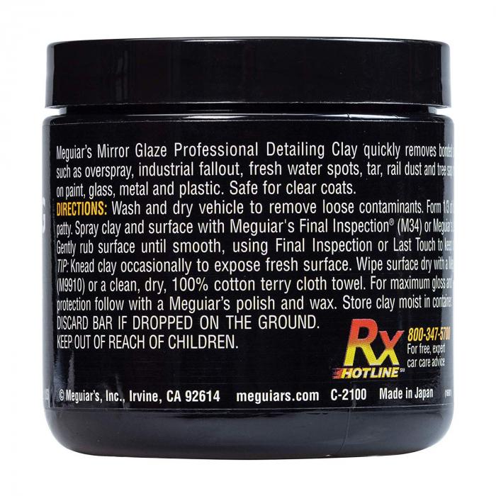 Meguiar's Aggressive Detailing Clay - Argilă Agresivă Decontaminare 2