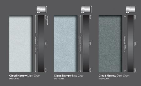 Cloud Narrow dark gray (ND)  SH2FGCND0