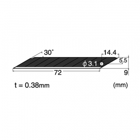 Lame de rezerva cu VARF 30° - 9MM 100 lame NT Cutter [1]