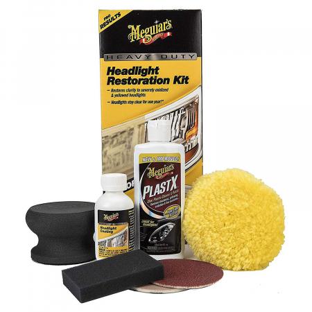 Meguiar's Heavy Duty Headlight Restoration Kit - Kit Polish Faruri [0]