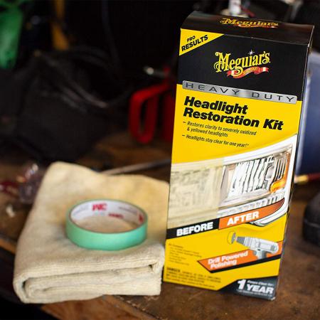 Meguiar's Heavy Duty Headlight Restoration Kit - Kit Polish Faruri [3]