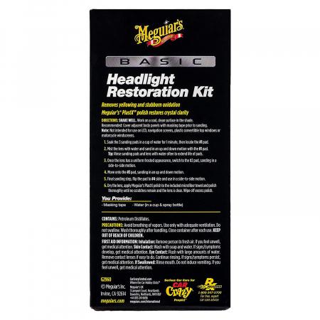 Meguiar's Basic Headlight Restoration Kit - Kit Polish Faruri [2]