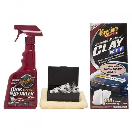 Meguiar's Smooth Surface Clay Kit - Kit Decontaminare Vopsea [1]