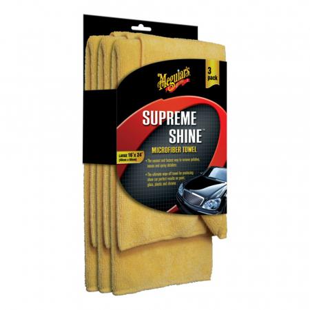 Meguiar's Supreme Shine Microfibre Towels Pack - Prosop Microfibră 3 Bucăți0