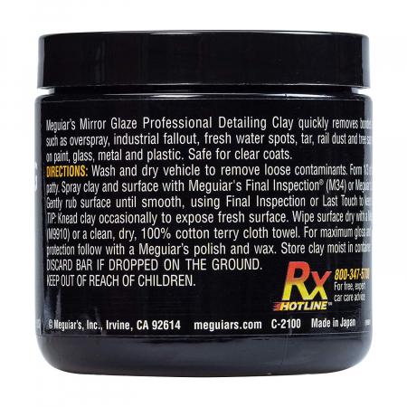 Meguiar's Aggressive Detailing Clay - Argilă Agresivă Decontaminare2