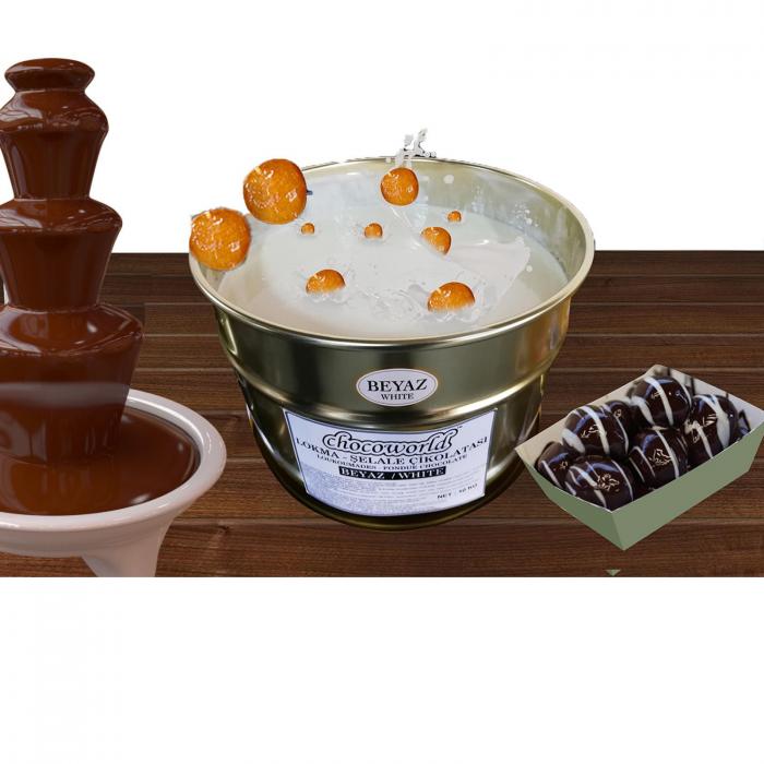 Ciocolata lichida alba pentru fantani 10kg [0]