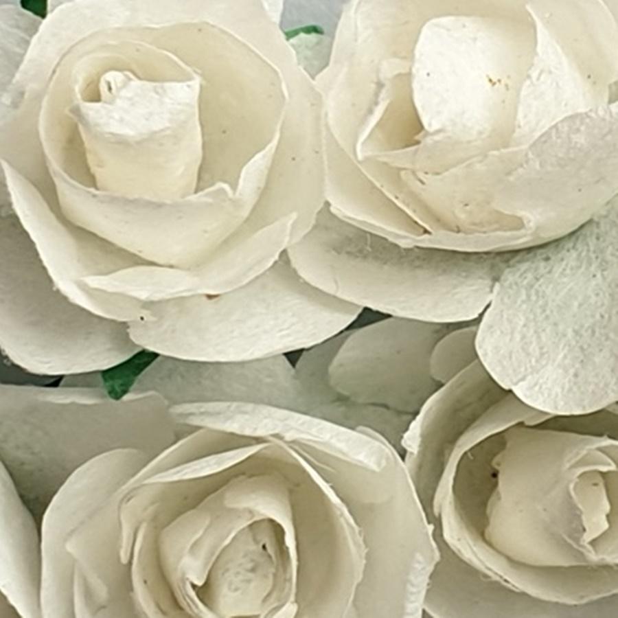 alb - flori hartie