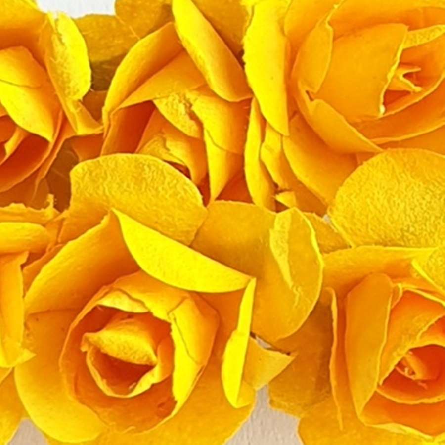 galben soare - flori hartie