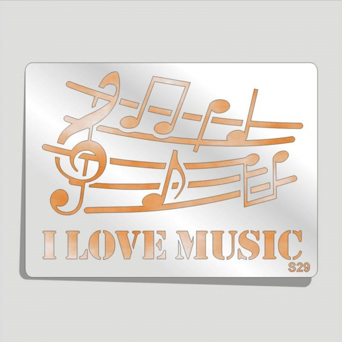 Șablon plastic S29 - Muzica 0