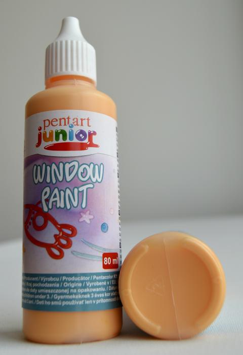Window paint portocaliu 80 ml 0