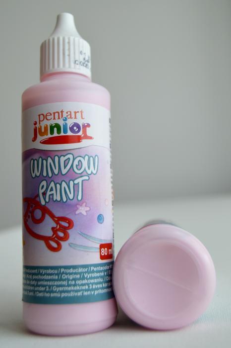 Window paint roz 80 ml