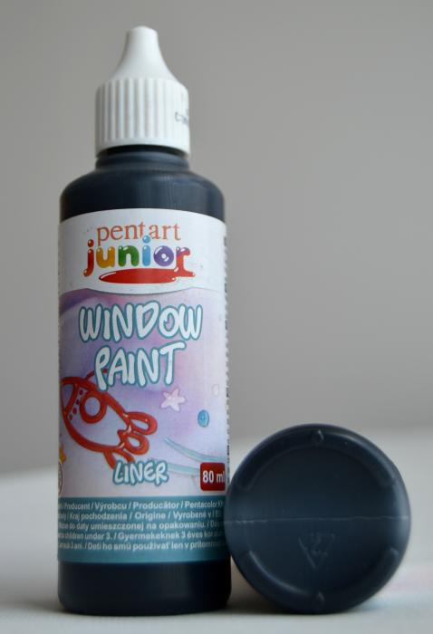 Window paint liner negru 80 ml 0