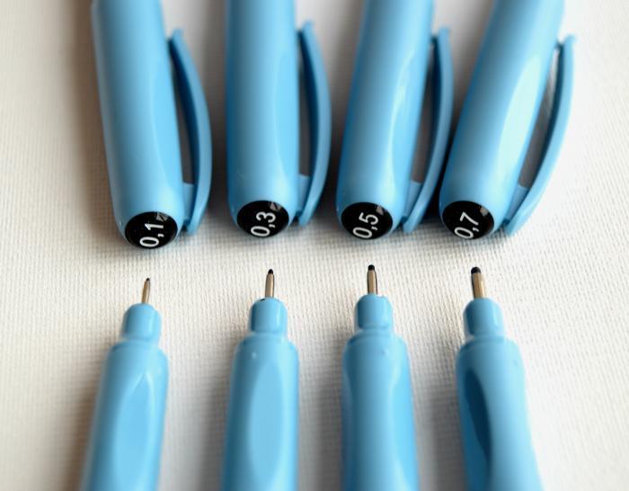Fine liner negru 0.1 - 0.7 Centropen