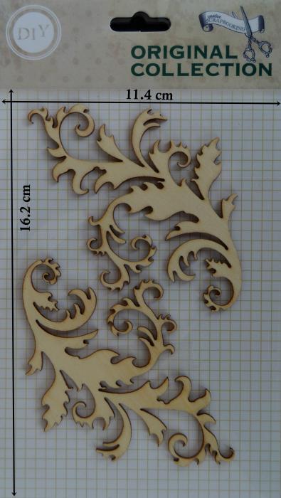 Decoratiune din lemn - frunze