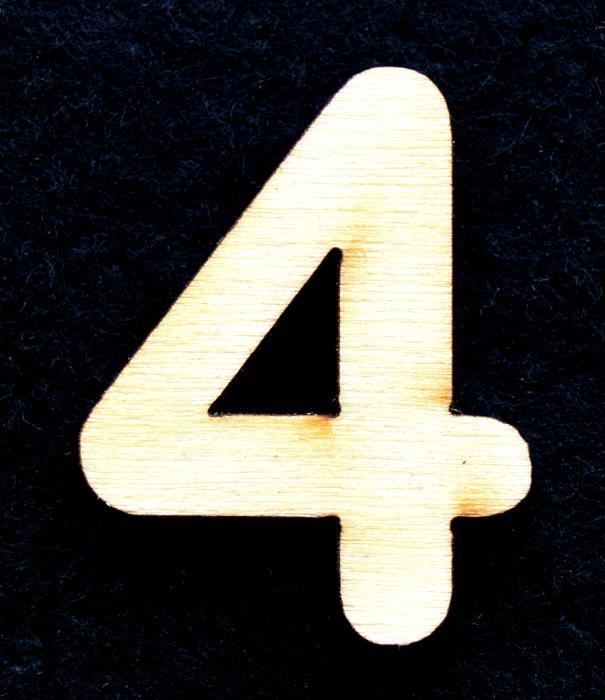 """Cifra din lemn """"4"""" 0"""