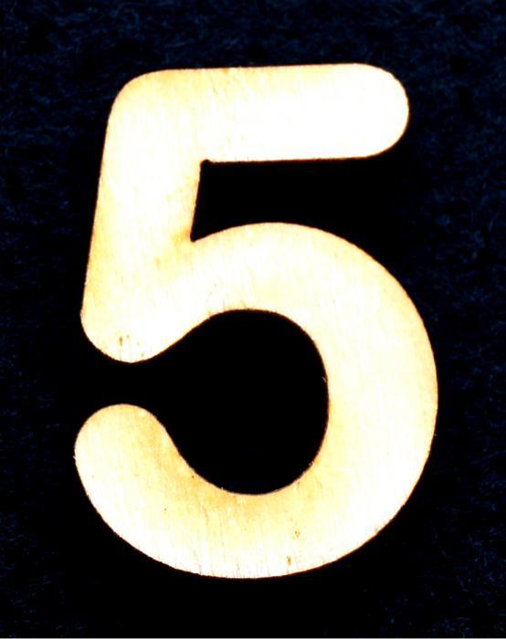 """Cifra din lemn """"5"""" 0"""