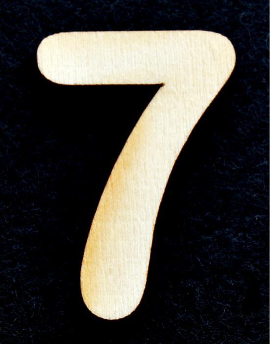 """Cifra din lemn """"7"""""""