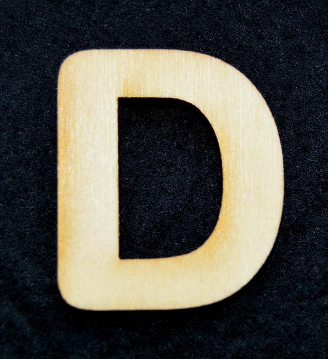 """Litera din lemn """"D"""" 0"""