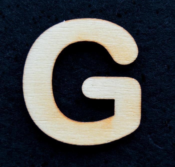 "Litera din lemn ""G"""
