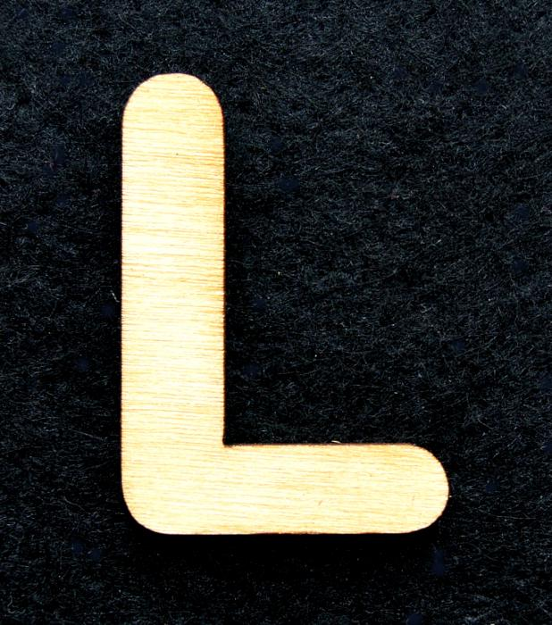 """Litera din lemn """"L"""" 0"""