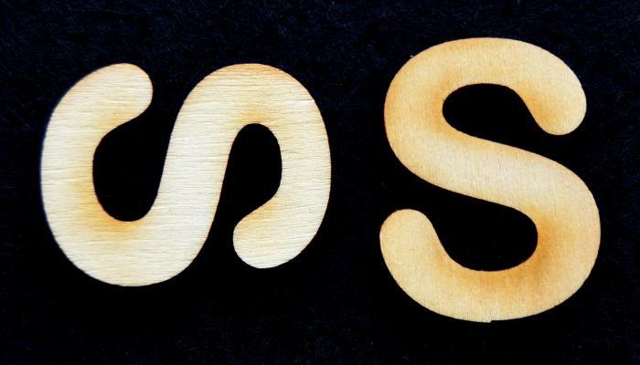 "Litera din lemn ""S"""