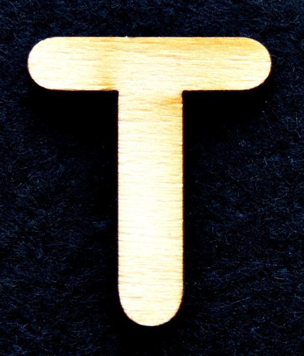 "Litera din lemn ""T"" 0"