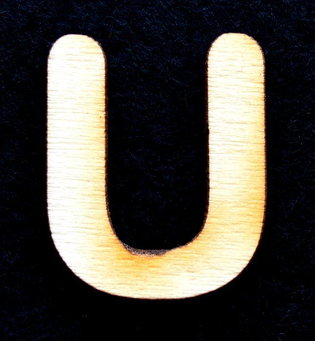 """Litera din lemn """"U"""""""