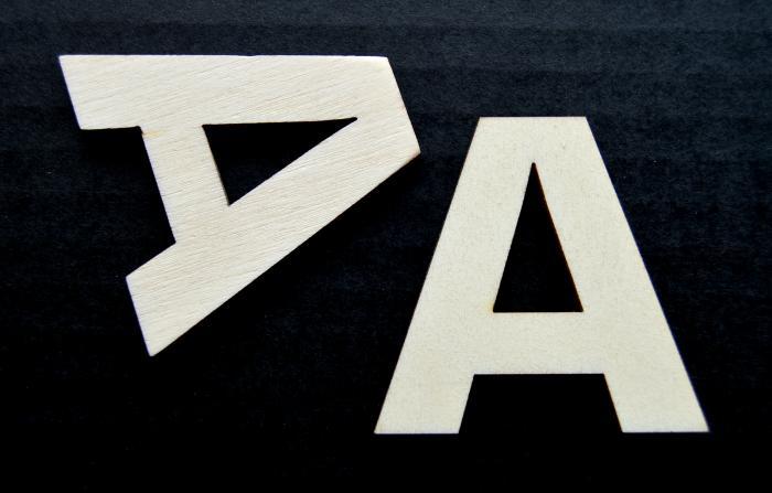 """Litera din lemn """"A"""" 1"""