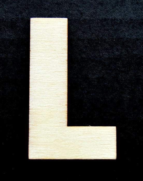 """Litera din lemn """"L"""""""