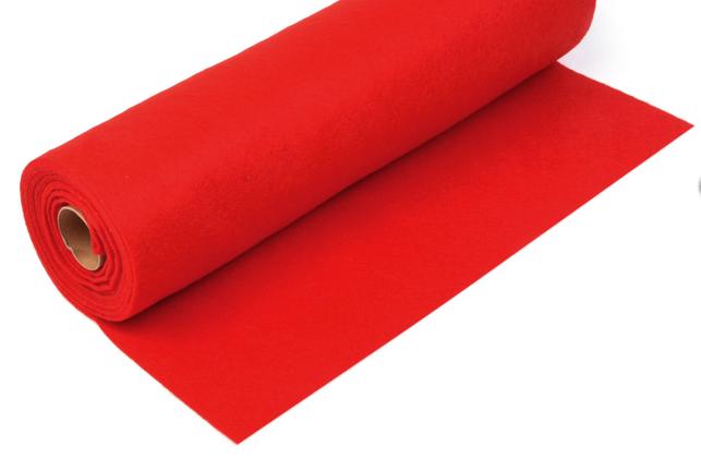 Rola fetru rosu 1mm grosime 0