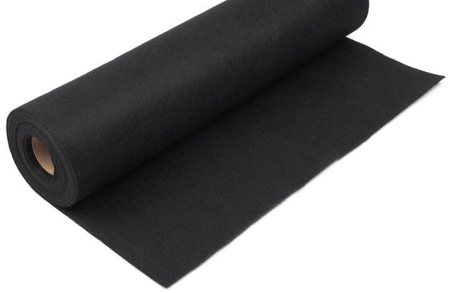 Rola fetru negru 1mm grosime 0