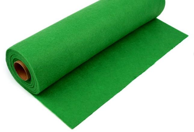 Rola fetru verde iarba 1mm grosime 0