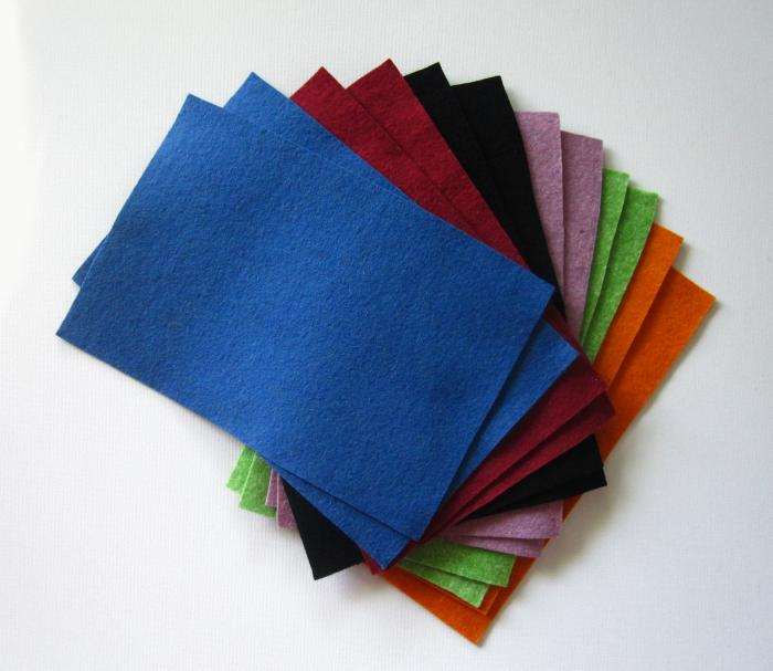 Fetru, A4,bio, albastru - foarte moale 0