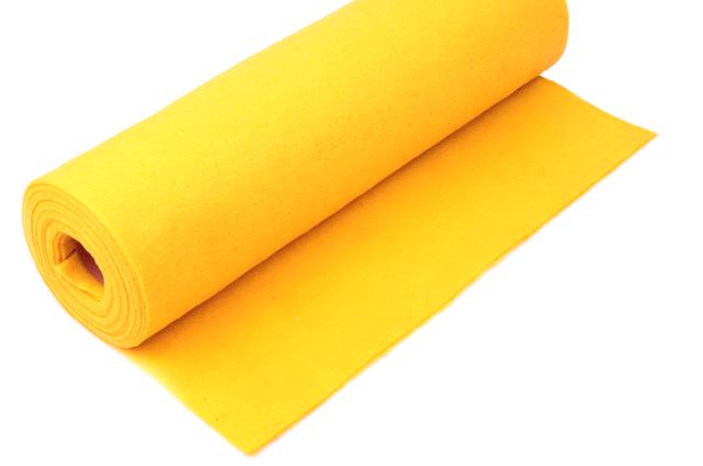 Rola fetru galben soare 1mm grosime 0