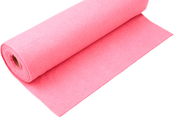 Rola fetru roz 1mm grosime 0