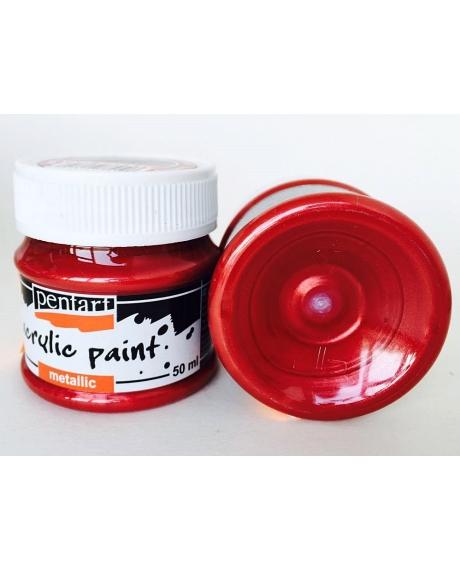 Vopsea acrilica bordo (50 ml)