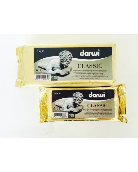 Pasta alba pentru modelaj Darwi Classic  500g 1