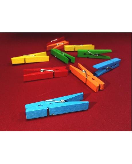 Cleme lemn colorate 3.5x0.7 cm (20 buc/set) 0