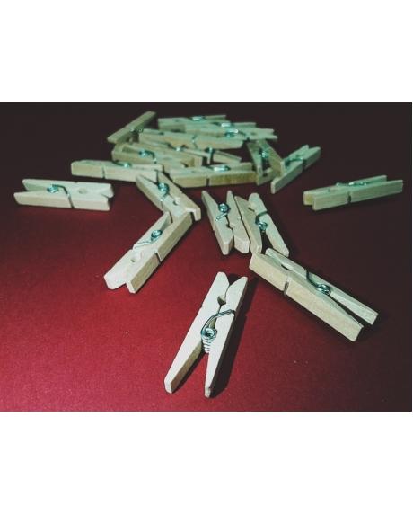 Cleme lemn 2.5x0.3 cm (50 buc/set) 0
