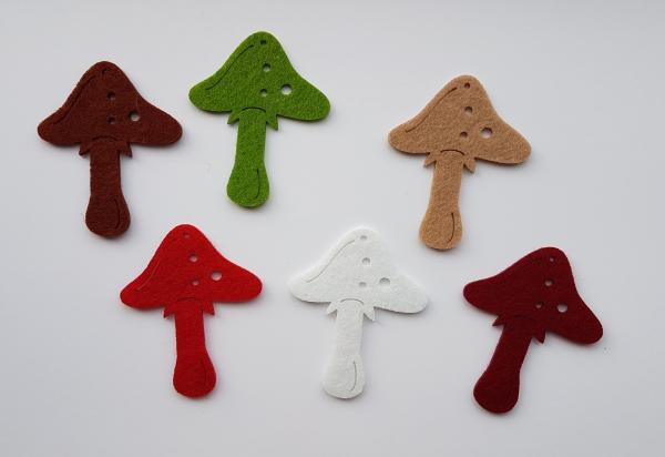 Figurine din fetru - Ciupercute 0