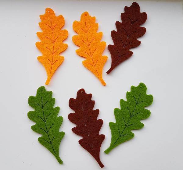 Figurine din fetru - frunze de stejar 0