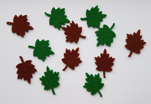 Figurine din fetru - frunze artar mici 0
